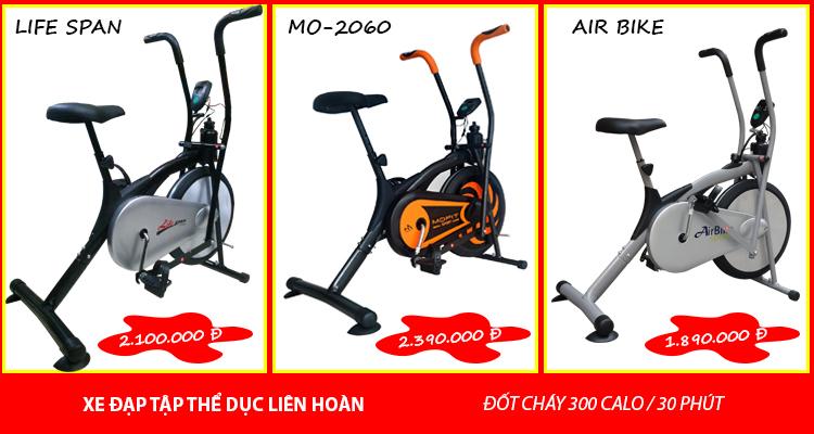 Các mẫu xe đạp tập thể dục đốt mỡ nhanh tốt nhất hiện nay