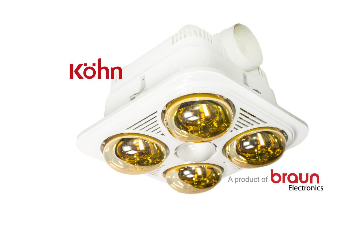 Đèn sưởi nhà tắm  Braun 4 bóng