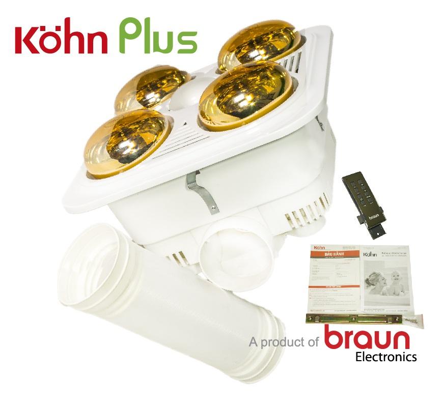 Đèn sưởi Braun 4 bóng có điều khiển