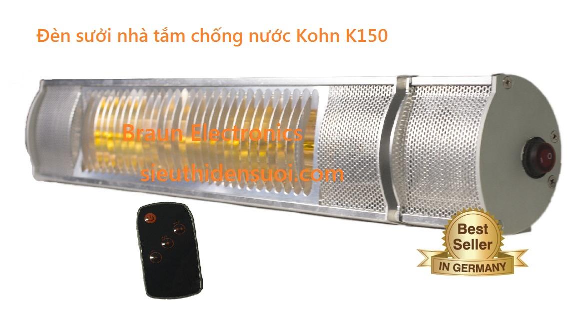Đèn sưởi nhà tắm chống nước Kohn K150