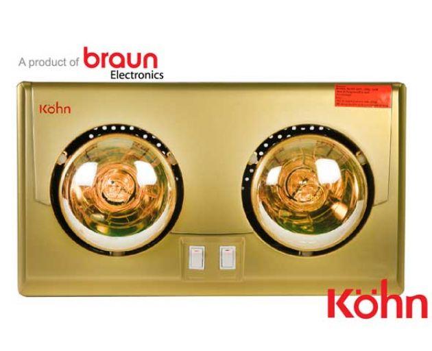 Đèn sưởi Braun 2 bóng KU02G