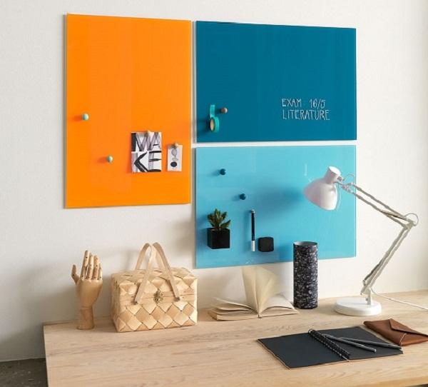 Bảng kính màu văn phòng