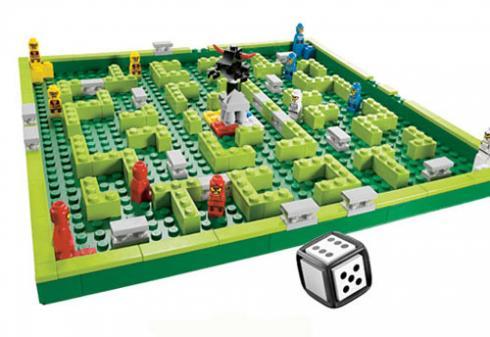 chơi xúc xắc với Lego