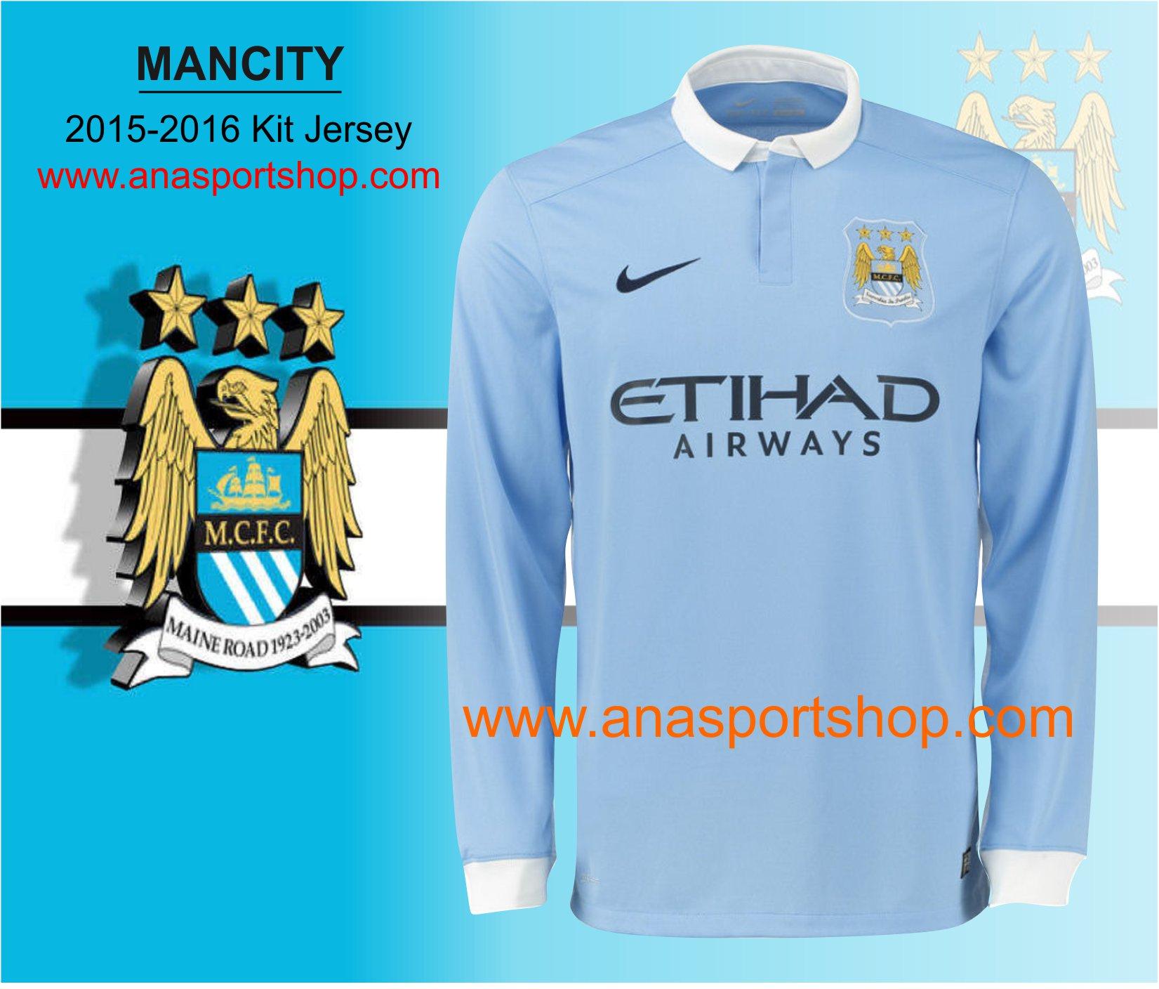 Ao bong da dai tay Manchester city 2015-2016 sanh nha xanh