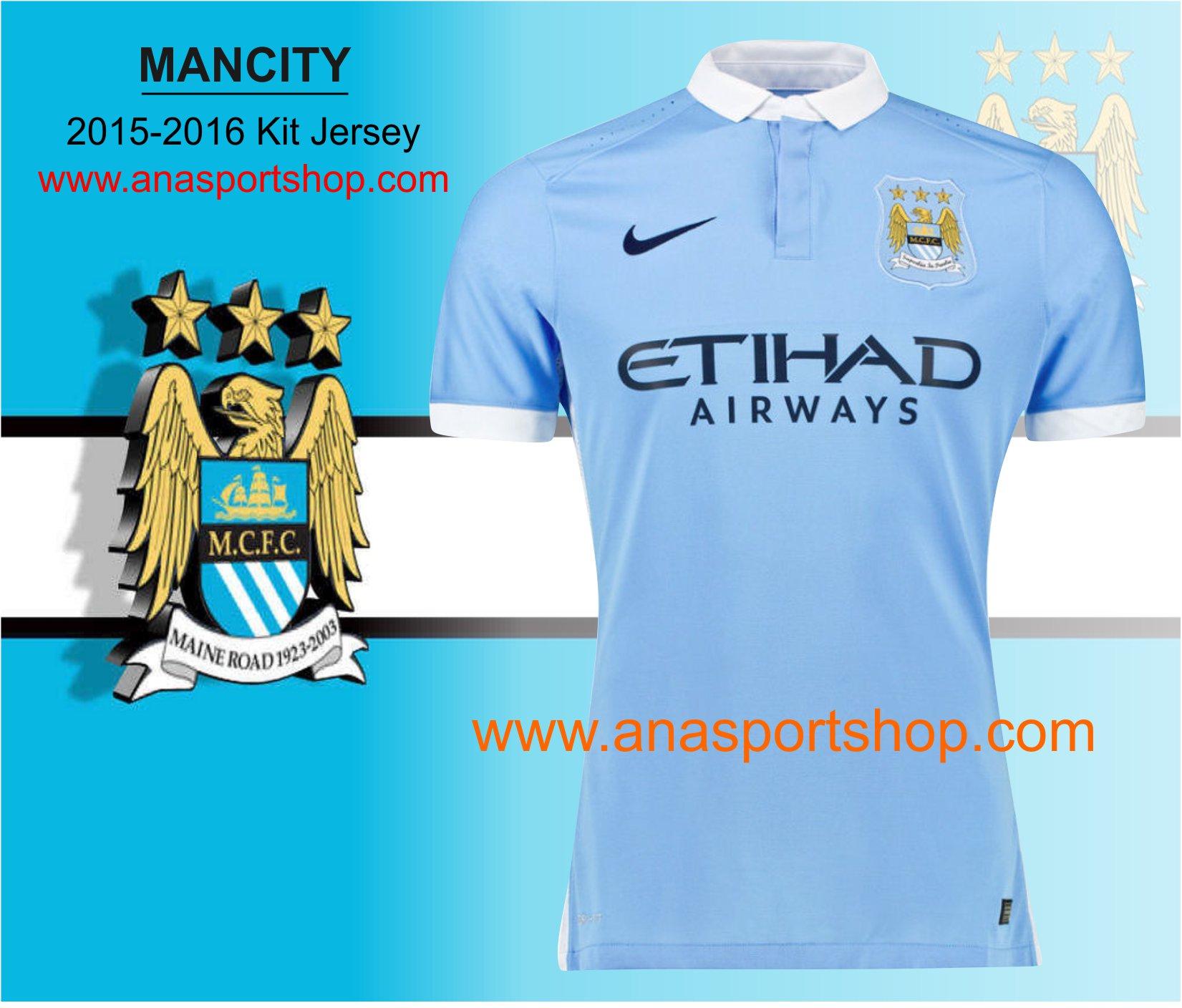 Ao bong da Manchester City 2015-2016 san nha xanh