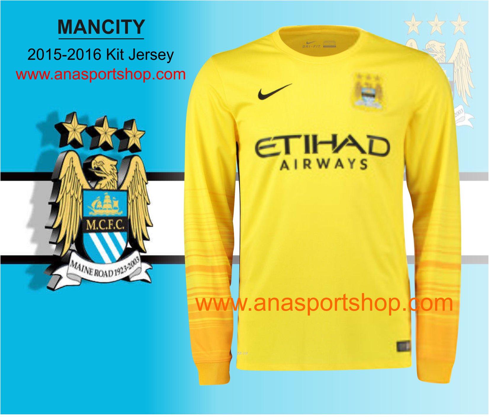 Ao thu mon Manchester City 2015-2016 Vang