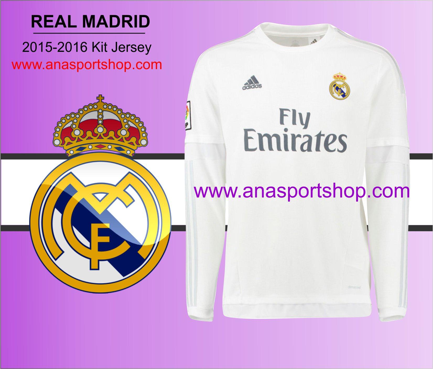 Ao bong da Real Madrid 2015-2016 dai tay san nha