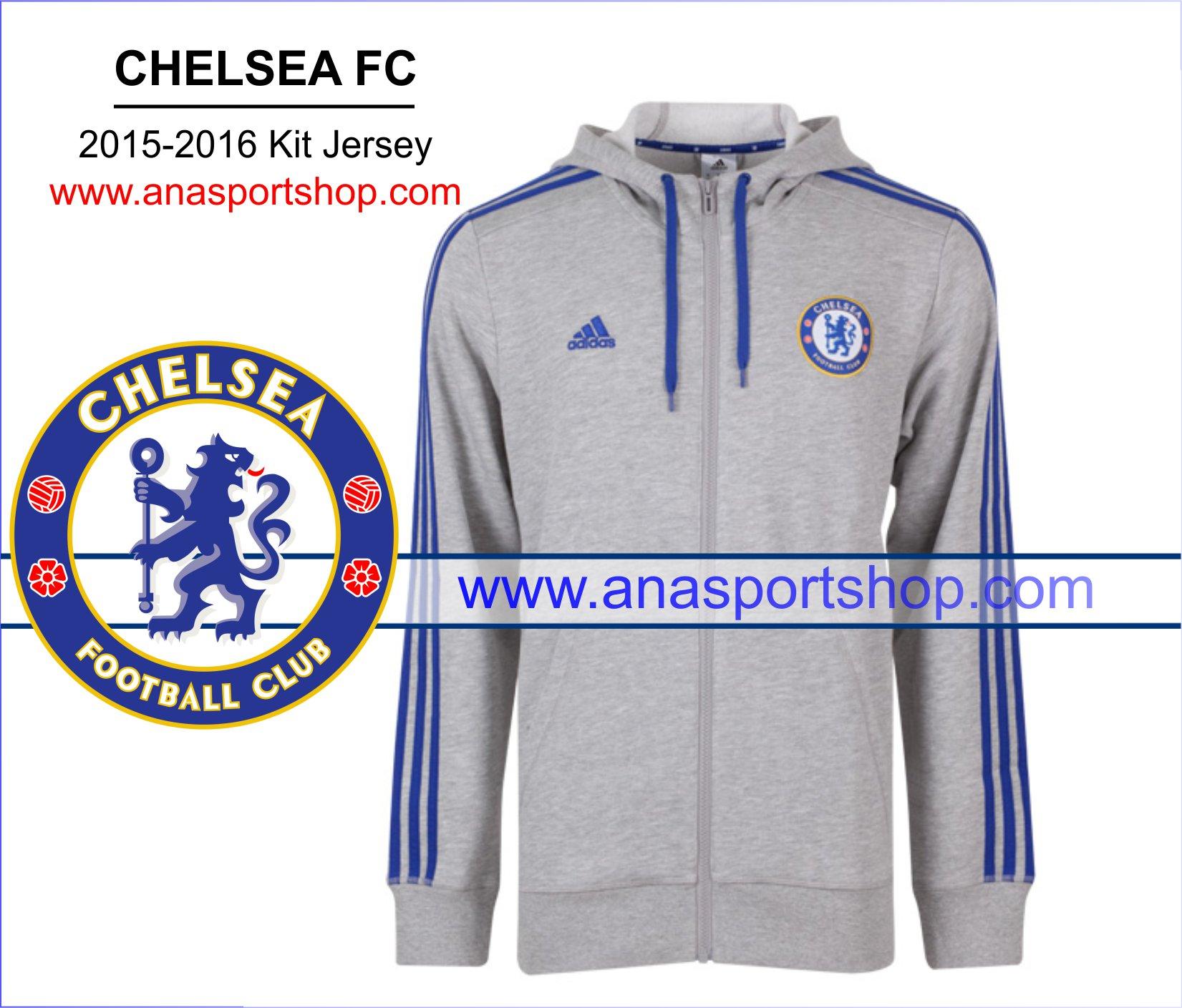 Áo khoác có mũ Chelsea 2015-2016