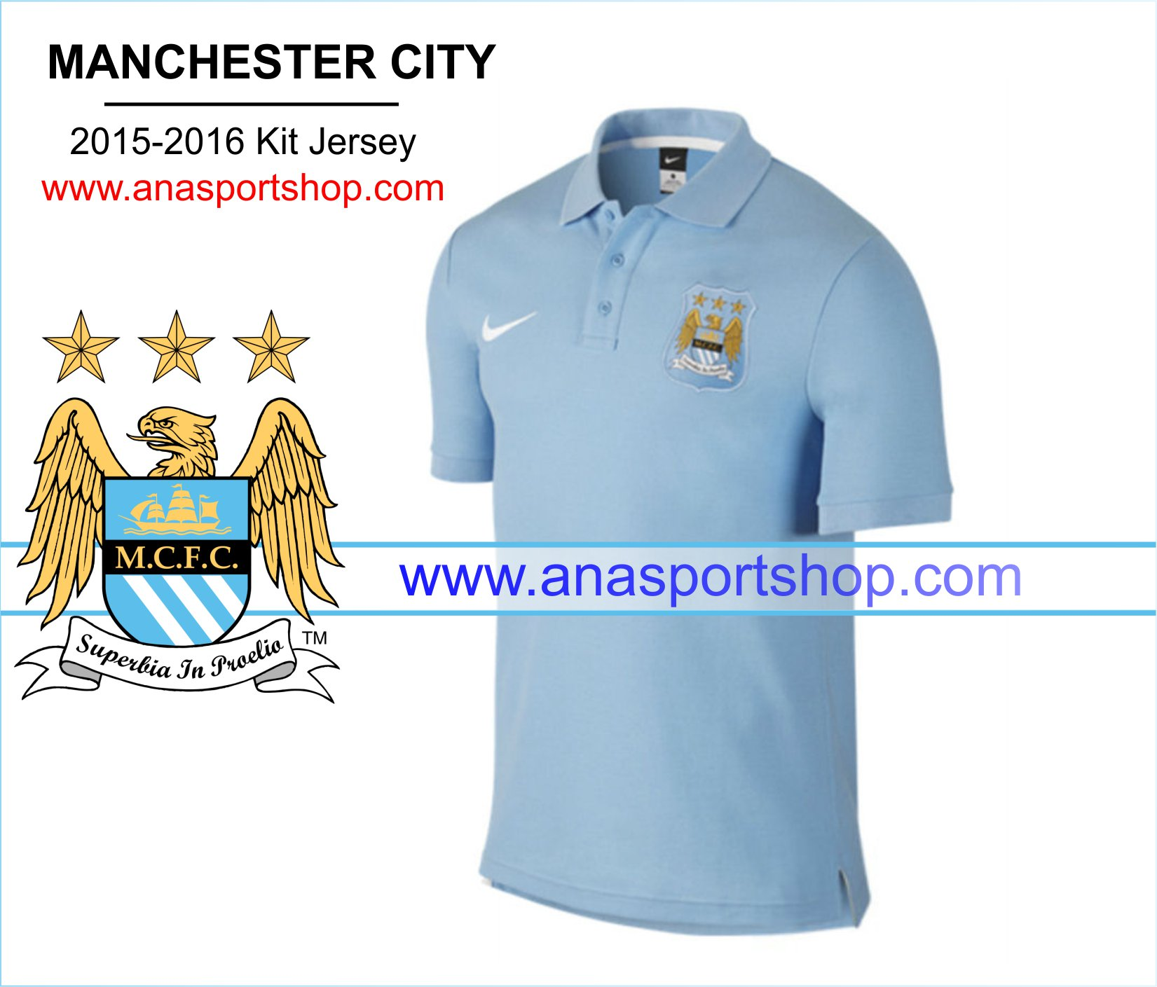 Ao Polo Manchester City 2015-2016 xanh
