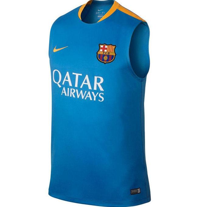 Ao ba lo bong da Barcelona 2015-2016 xanh bien