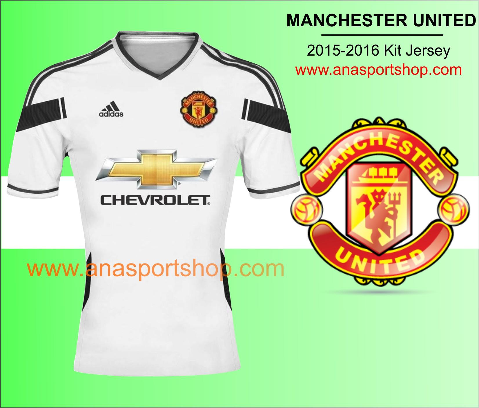 Ao bong da Manchester United 2015-2016 san khach trang