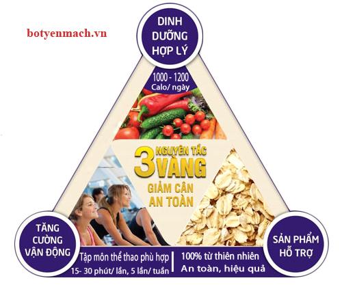 Nguyên tắc vàng đểm giảm cân từ Yến mạch