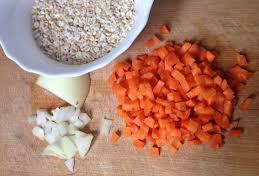Cháo Yến mạch với cà rốt