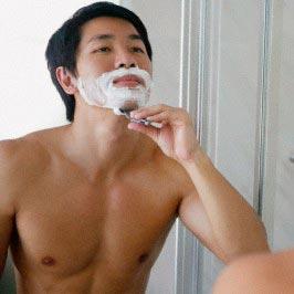 Cạo râu không đúng cách