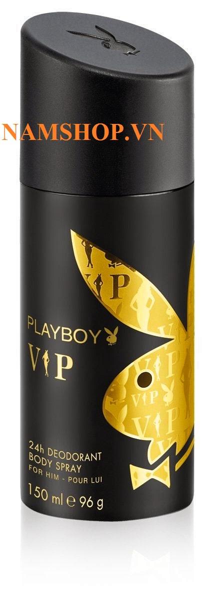 xịt khử mùi toàn thân nam hương nước hoa Playboy Vip