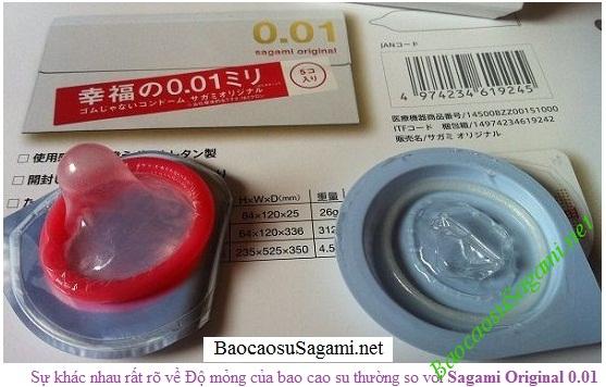 Sagami Original 0.01 mỏng 0,01mm chỉ mỏng bằng 1/6 sợi tóc