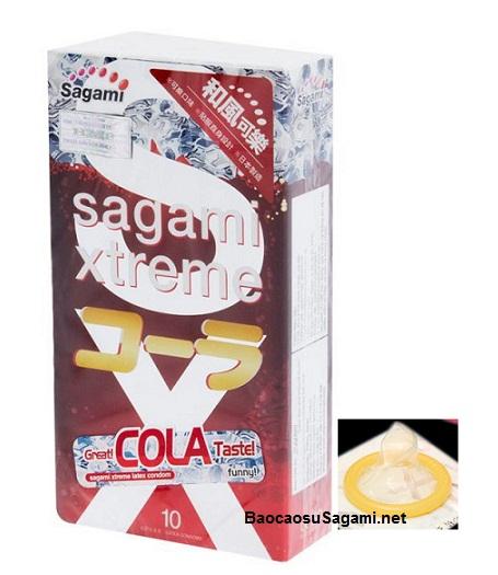 Bao cao su Sagami Xtreme Cola có hương thơm Coca Cola quyến rũ