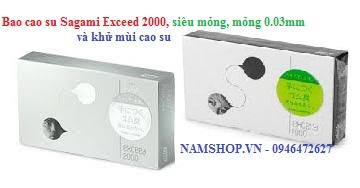 Bao cao su siêu mỏng Sagami Exceed 2000, mỏng 0.03mm, không có mùi cao su