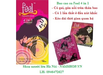 Bao cao chống xuất tinh sớm Feel 4 in 1