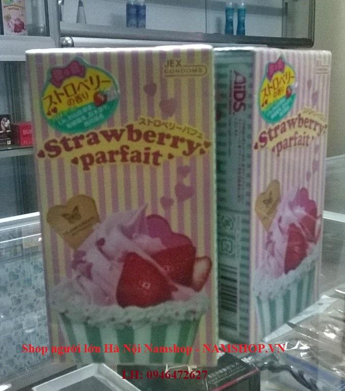 Bao cao su có hương thơm Jex Glamourous Butterfly Strawberry, hàng chính hãng Nhật Bản