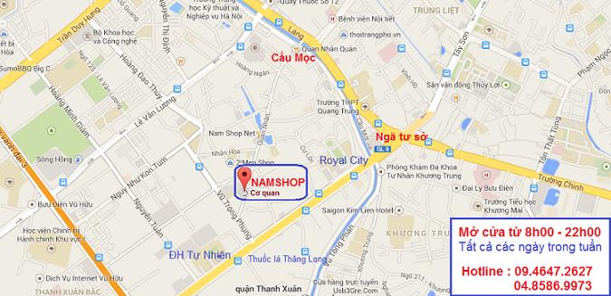 Bản đồ chỉ đường đến Shop bán Stud 100 chính hãng tại Hà Nội