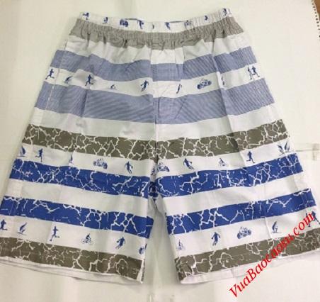 Quần short nam đi biển Aberich SH38 thiết kế kiểu kẻ vằn