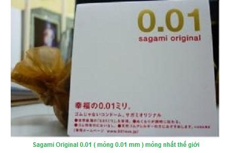 Bao cao su mỏng nhất thế giới Sagami Original 0.01, mỏng vô đối