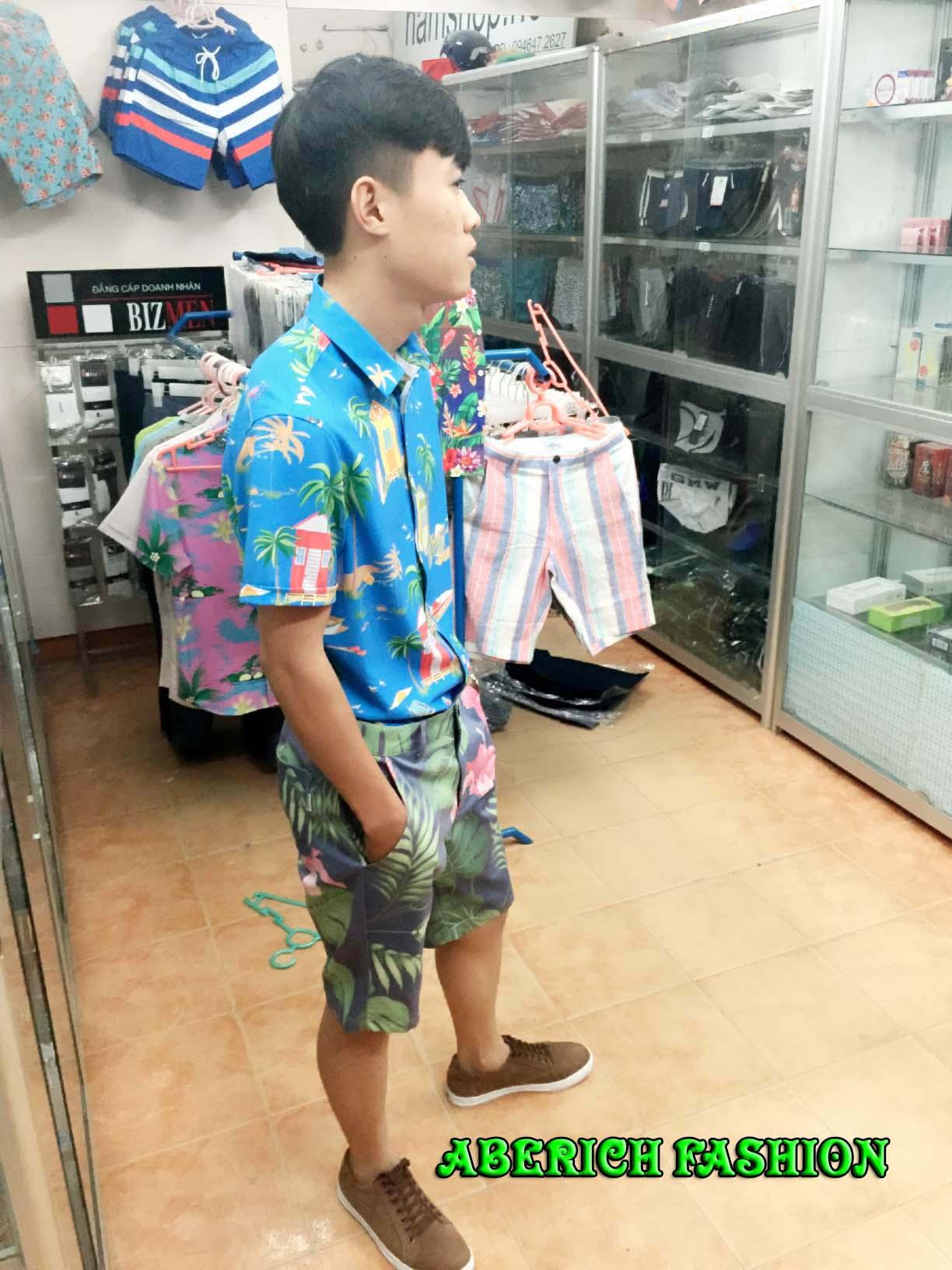 Áo sơ mi họa tiết cho nam - Thời trang Hawaii