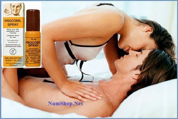 Quan hệ lâu hơn với thuốc xịt trị xuất tinh sớm Procomil Spray