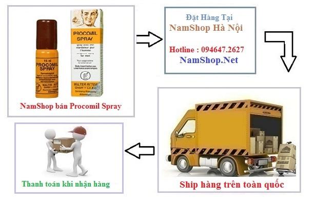 Mua thuốc xịt Procomil tại Kiên Giang được giao hàng tận nơi