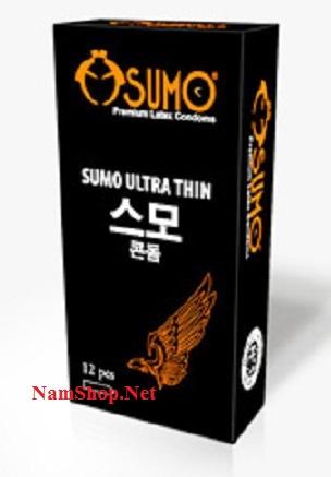 Bao cao su siêu mỏng và chống xuất tinh sớm Sumo Ultra Thin