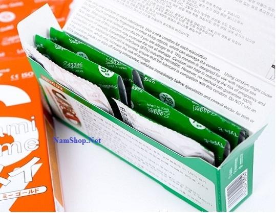 Bao cao su có gai gân Sagami Xtreme Green tăng khoái cảm