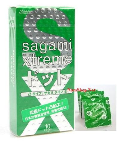 Hình ảnh bao cao su có gai gân Sagami Xtreme Green