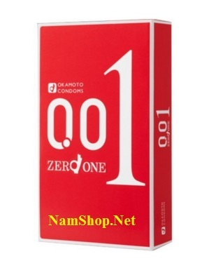 Bao cao su mỏng nhất thế giới Okamoto Zero One mỏng 0.01mm