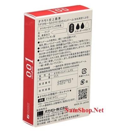 Bao cao su mỏng nhất, tốt nhất thế giới Okamoto Zero One 0.01
