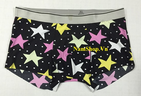 Hình ảnh mẫu quần lót nam kiểu lạ độc đáo Aberich QLH13 hình ngôi sao