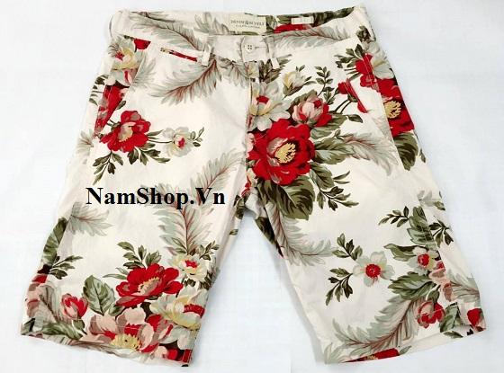 Hình ảnh quần short nam đi biển hoa lá Aberich SH15