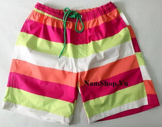 Hình ảnh quần short nam đi biển bảy sắc màu Aberich SH11