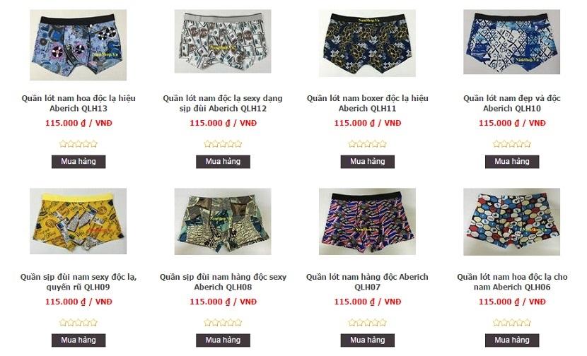 Địa chỉ bán quần lót nam độc lạ, sexy tại huyện Ứng Hòa