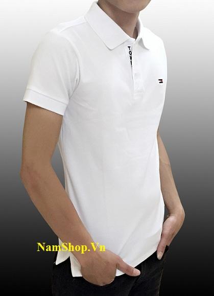 Hình ảnh áo phông cộc tay nam hiệu Tomy màu trắng