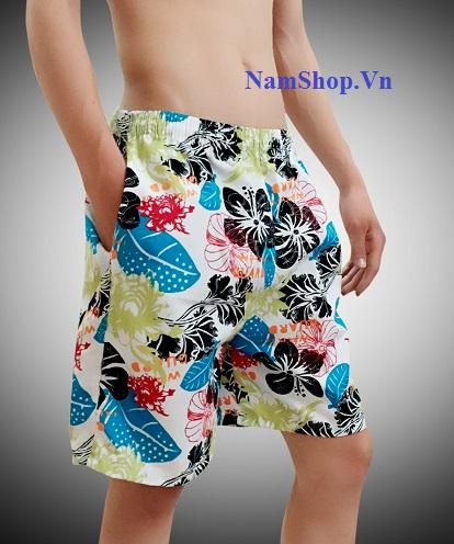 Hình ảnh quần short nam đi biển hoa lá