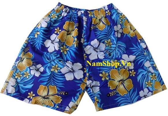 Quần short nam đi biển hoa lá cực đẹp