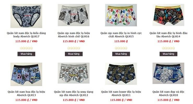 Các mẫu quần sịp nam hàng độc, kiểu lạ tại NamShop