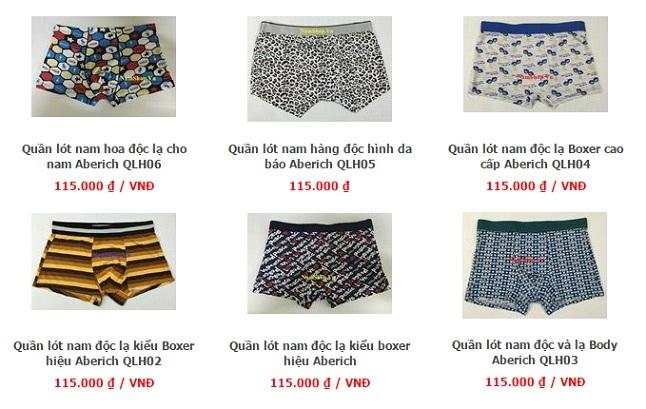 Các mẫu quần lót nam độc lạ có bán tại NamShop