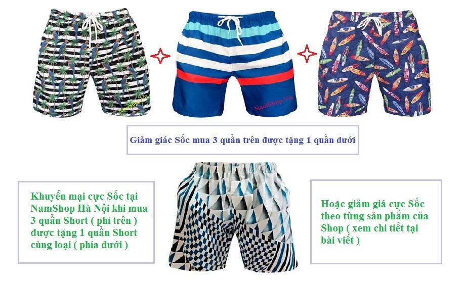 Giảm giá cực Sốc khi mua quần short nam tại NamShop