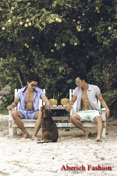 Nét lãng tử với áo sơ mi họa tiết cho chàng đi picnic