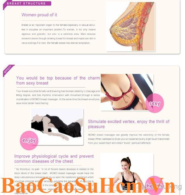 Hiệu quả sau khi dùng máy massage ngực cao cấp MoMo