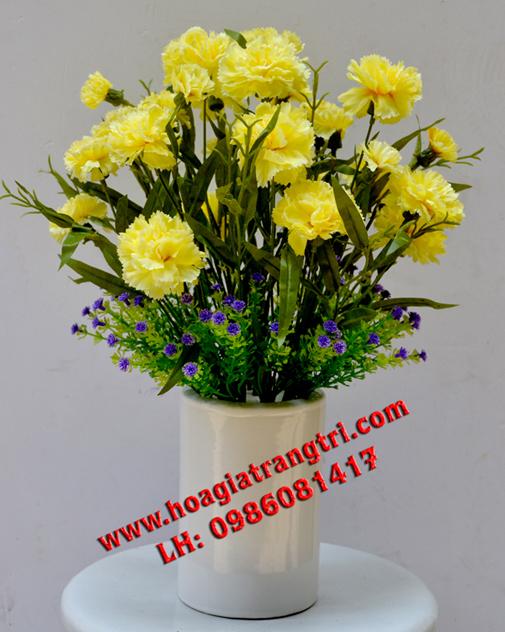 Hoa lụa cao cấp tại Hà Nội trang trí đẹp tinh tế