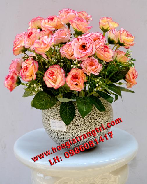 Hoa giả và bình hoa giả để bàn đẹp nhất, chất lượng nhất