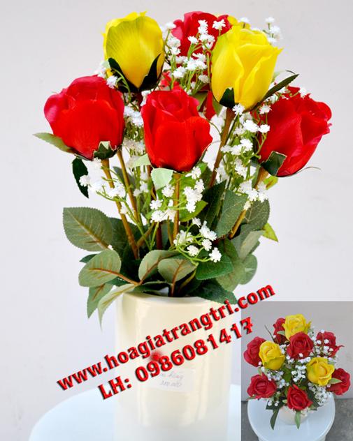 Hoa lụa cao cấp đẹp thu hút ánh nhìn của phái nữ